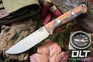 Bravo 1 Elmax LT Natural Canvas Micarta - Silver Lightning Micarta - Rampless