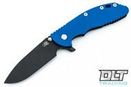"""Hinderer 4"""" XM-24 Skinny Slicer - Black DLC - Blue G-10"""