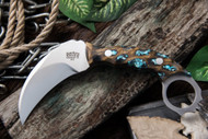 Bark River Karambit Ghost II Cholla Cactus with Turquoise #4