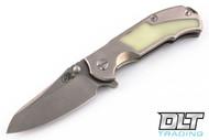 Hinderer MP-1 Satin Titanium - Moonglow Inlay - Stonewashed Blade