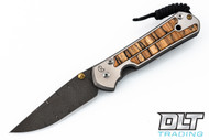 Chris Reeve Large Sebenza 21 - Ladder Damascus - Spalted Beech Inlay - #2