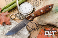 Adventurer Damascus Desert Ironwood Burl - Black Liners - Mosaic Pins