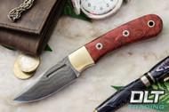 Essential Damascus - Bolster - Hellfire Maple Burl - Mosaic Pins - #2