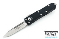 Microtech 231-10 UTX-85 S/E - Black Handle - Contoured - Stonewashed Blade