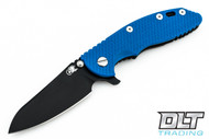 "Hinderer 3.5"" XM-18 Sheepsfoot - Black DLC - Blue G-10"