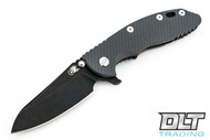 "Hinderer 3.5"" XM-18 Sheepsfoot - Battle Black DLC - Grey G-10"