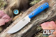 Bravo Necker II CPM-154 Blue Glow G-10 - Orange Liners - Hollow Pins - Matte Finish