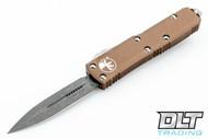 Microtech 232-10APTA UTX-85 D/E - Tan Handle - Contoured - Apocalyptic Blade