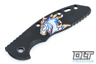 """Hinderer 3.5"""" XM-18 Smooth Horse Engraved Scale - Black DLC - Bronze, Purple, & Silver Anodized Horse"""