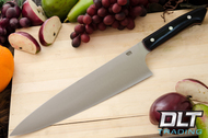 "10"" Chef's Knife CPM-154 Black Canvas Micarta - Red Liners"