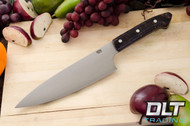 "8"" Chef's Knife CPM-154 Black & Gold Elder Burl"