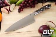"8"" Chef's Knife CPM-154 Black & White Pinecone"