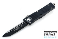 Microtech 144-1 Combat Troodon T/E - Black Handle - Two-Tone Black Blade