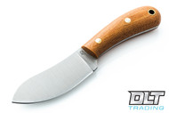 LT Wright Camp MUK A2 - Flat Ground - Natural Micarta - Matte Finish