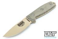 ESEE 3P - Green Sheath - M.O.L.L.E Back - Desert Tan Blade