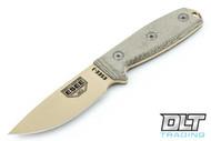 ESEE 3PM - Modified Pommel - Green Sheath - M.O.L.L.E Back - Desert Tan Blade