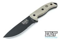 ESEE 5S - Partially Serrated - Kydex Sheath - Black Blade