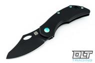 Olamic Cutlery Busker Semper - Black Blade - Black Handle - Green Hardware & Backspacer
