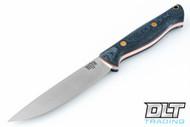 Gunny Vortex - Blue Denim - Orange Liners - Brass Hardware - Rampless - Full Height Grind - No Loop