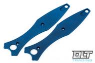 Hinderer Maximus Textured Titanium Handle Scales - Battle Blue