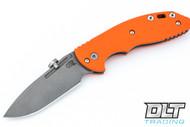 Hinderer XM-18 Slipjoint Spanto - Working Finish - Orange G-10
