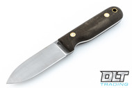 LT Wright Bushcrafter 3V - Flat Ground - Green Micarta - Matte Finish