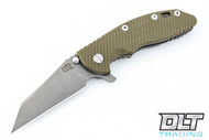 """Hinderer 3.5"""" XM-18 Wharncliffe - Working Finish - OD Green G-10"""