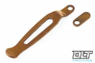 Hinderer Maximus Clip & Filler Tab - Bronze Anodized Titanium