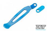 Hinderer Maximus Clip & Filler Tab - Blue Anodized Titanium