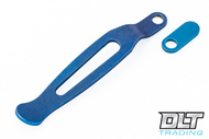 Hinderer Maximus Clip & Filler Tab - Battle Blue Anodized Titanium