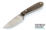 LT Wright Frontier First D2 - Flat Grount - Green Micarta - Matte Finish