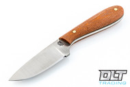 LT Wright Frontier First D2 - Flat Grount - Natural Micarta - Matte Finish