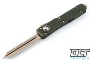 Microtech 223-15OD Ultratech Spartan D/E - OD Handle - Bronze Blade - Full Serrations