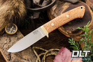 Classic Drop Point Hunter A2 - Brass Hardware - Birdseye Maple - Red Liners