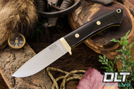 Classic Drop Point Hunter A2 - Brass Hardware - Black G-10 - Limited Edition