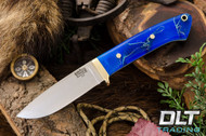 Classic Drop Point Hunter A2 - Brass Hardware - Blue Cyclone Mesh - White Liners