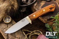 Classic Drop Point Hunter A2 - Brass Hardware - Desert Ironwood - Red Liners - #2