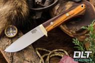 Classic Drop Point Hunter A2 - Brass Hardware - Desert Ironwood - Red Liners - Mosaic Pins - #1
