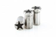 "Hinderer Stainless Steel - Star Engraved 3.5"" XM-18 Nut Set"