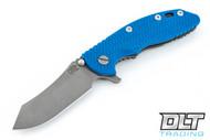 "Hinderer 3.5"" XM-18 Skinner - Working Finish - Blue G-10"