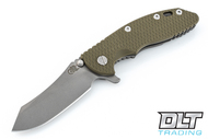 "Hinderer 3.5"" XM-18 Skinner - Working Finish - OD Green G-10"