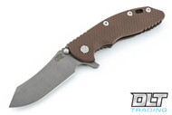 "Hinderer 3.5"" XM-18 Skinner - Working Finish Blade - Battle Bronze - FDE G-10"