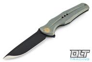 We Knife 601C - Green Handle - Black Blade