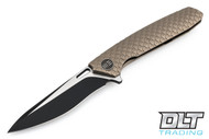 We Knife 604L - Bronze Handle - Drop Point - Two Tone Blade
