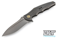 We Knife 608O - Grey Handle - Drop Point - Stonewashed Blade