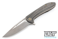 We Knife 615G - Grey Handle - Two Tone Blade