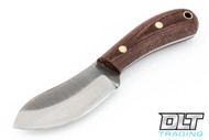 LT Wright Camp MUK 3V - Saber Ground - Rustic Brown Micarta - Matte Finish