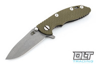 "Hinderer 3"" XM-18 No Choil Slicer M390 - Working Finish - OD Green G-10"