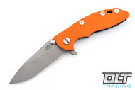 "Hinderer 3"" XM-18 No Choil Slicer M390 - Working Finish Blade - Battle Blue - Orange G-10"