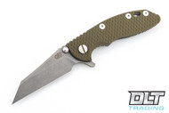 """Hinderer 3"""" XM-18 Wharncliffe - Working Finish - OD Green G-10"""
